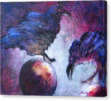 Bird Or Fiend Canvas Print by Sandy Applegate
