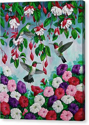 Bird Painting - Hummingbird Heaven Canvas Print