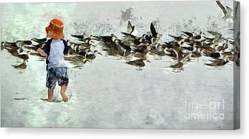 Canvas Print featuring the photograph Bird Play by Claire Bull