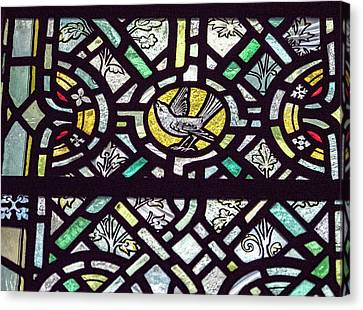 Canvas Print - Bird Stained Glass by Jean Noren