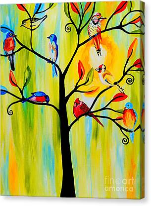 Bird Tree Canvas Print by Art by Danielle