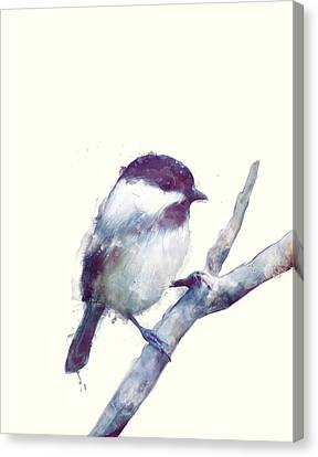 Bird // Trust Canvas Print by Amy Hamilton