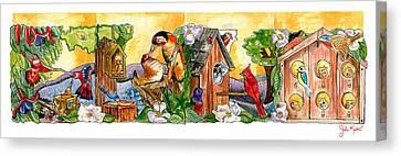 Birdhouse Tableau Canvas Print by John Keaton
