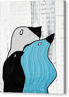 Birdies - 33tx Canvas Print by Variance Collections