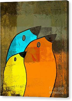 Shape Canvas Print - Birdies - C02tj1265c2 by Variance Collections