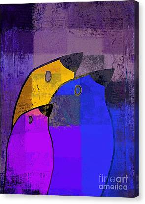 Birdies - C02tj126v5c35 Canvas Print by Variance Collections