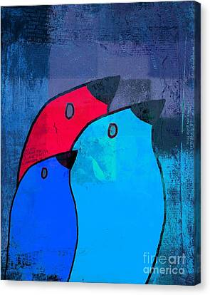 Birdies - C2t1j126-v5c33 Canvas Print by Variance Collections