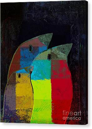 Lime Canvas Print - Birdies - C2t1v4 by Variance Collections