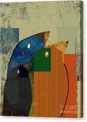 Birdies - C412-j128121170 Canvas Print by Variance Collections