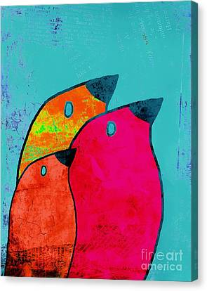 Birdies - V03a Canvas Print by Variance Collections