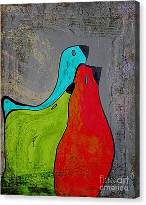 Birdies - V110b Canvas Print