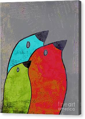Birdies - V11b Canvas Print by Variance Collections