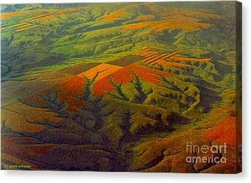 Giselaschneider Canvas Print - Bird's Eye View ... Montana Art Photo by GiselaSchneider MontanaArtist