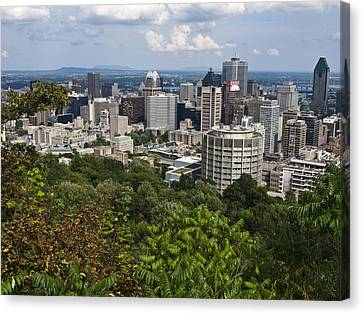 Birds Eye View Of Montreal, Canada Canvas Print by Stacy Gold