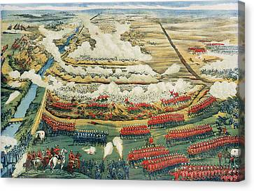 Bird's-eye View Of The Battle Of Tel El-kebir Canvas Print by English School
