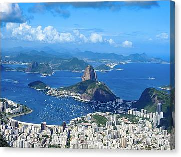 Birds Eyeview Of Rio Canvas Print