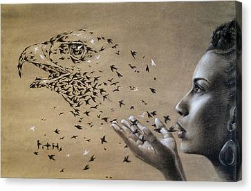 Birds Of Poetry  Canvas Print by Fithi Abraham