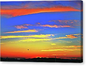 Birds In Nantucket Sunset From Eat Fire Spring Canvas Print by Duncan Pearson