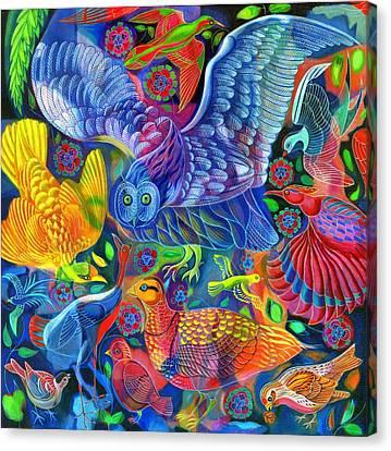 Birds Canvas Print by Jane Tattersfield