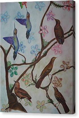 Birds Canvas Print by Latha  Vasudevan