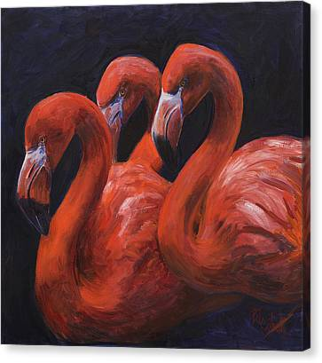 Birds Of A Feather Canvas Print by Billie Colson
