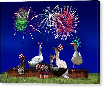 Birds Of A Feather Celebrate Freedom Canvas Print
