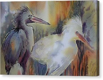 Birds Of A Feather Canvas Print by Tara Moorman