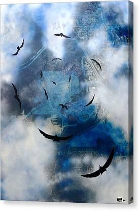 birds of apocalypse VI Canvas Print by Poul Costinsky