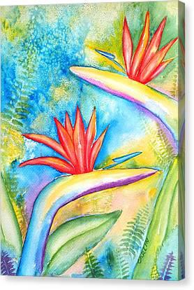 Birds Of Paradise Canvas Print by Carlin Blahnik