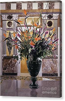 Interior Still Life Canvas Print - Birds Of Paradise Getty Museum by David Lloyd Glover