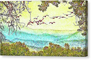 Birds Over Horizon - Boulder County Colorado Canvas Print