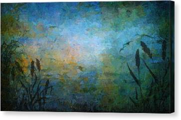 Birds Over The Lake Canvas Print