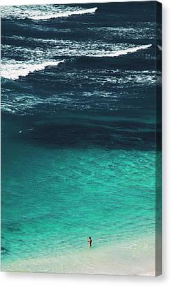 Tropical Bird Postcards Canvas Print - Birdseye View Of Beautiful Tropical Seascape In Bali, Indonesia by Srdjan Kirtic