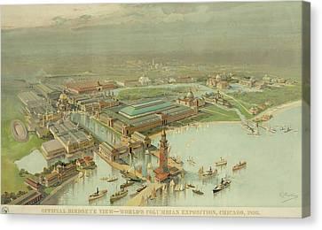 Birdseye View. Worlds Columbian Canvas Print