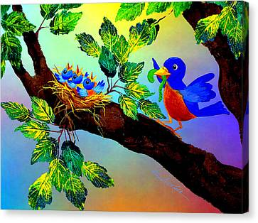 Birdy Baby Breakfast Canvas Print