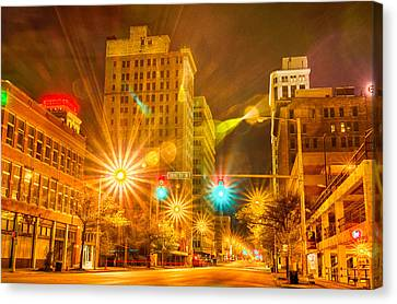 Birmingham Alabama Evening Skyline Canvas Print by Alex Grichenko