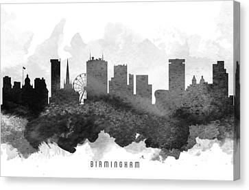 Birmingham Cityscape 11 Canvas Print by Aged Pixel