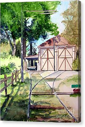 Birney Trolley Barn Canvas Print