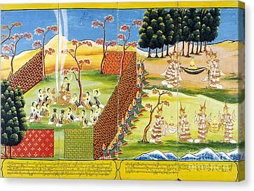 Birth And Life Of The Buddha Canvas Print