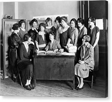 Birth Control Pioneer Sanger Canvas Print by Underwood & Underwood