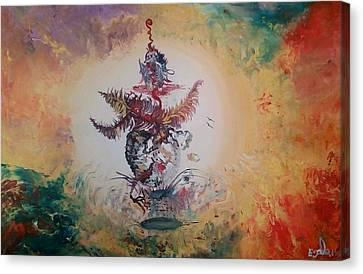 Birth Of Colors Canvas Print by Eyal Malek