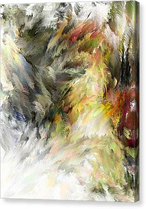 Canvas Print featuring the digital art Birth Of Feathers by Dale Stillman
