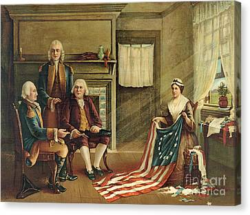 Birth Of Our Nation's Flag Canvas Print by G H Weisgerber