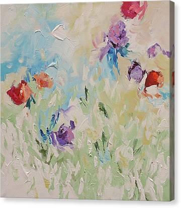 Birth Of Spring Canvas Print by Linda Monfort