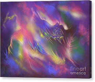 Canvas Print featuring the digital art Birth Of The Phoenix by Amyla Silverflame