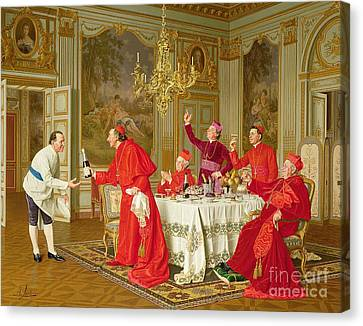 Wine Scene Canvas Print - Birthday by Andrea Landini
