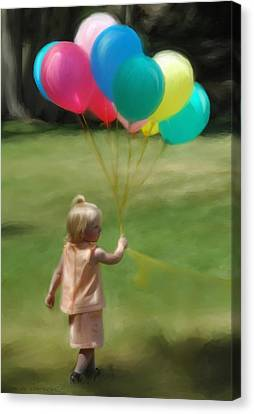 Birthday Balloons Canvas Print