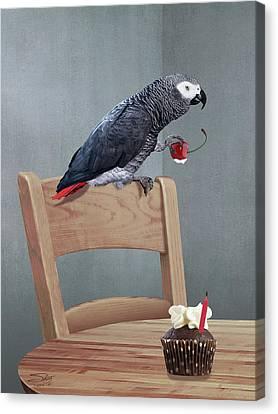 Birthday Bird Canvas Print by IM Spadecaller