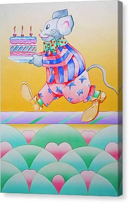 Birthday Cake Canvas Print by Virginia Stuart
