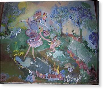 Birthday Fairy Canvas Print by Judith Desrosiers